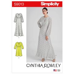 Simplicity Pattern S9013 Misses` Dresses in Two Lengths
