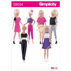 """Simplicity Pattern S9034 11 1/2"""" Doll Clothes"""