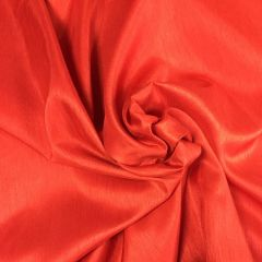 Polyester Satin-Backed Dupion: Red (22408)
