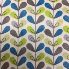 Luna Coated Cotton: Leaf Green / Blue (24288)