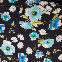 Hanna Turquoise Floral - End of Bolt 1.5m piece (24400)