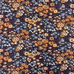 24967 Babycord - Brown Floral
