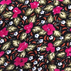 24968 Babycord - Pink Floral