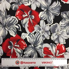 Hendon Cotton Floral Red/Black (24714)