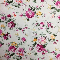 Hendon Cotton Floral Pink / White (24706)